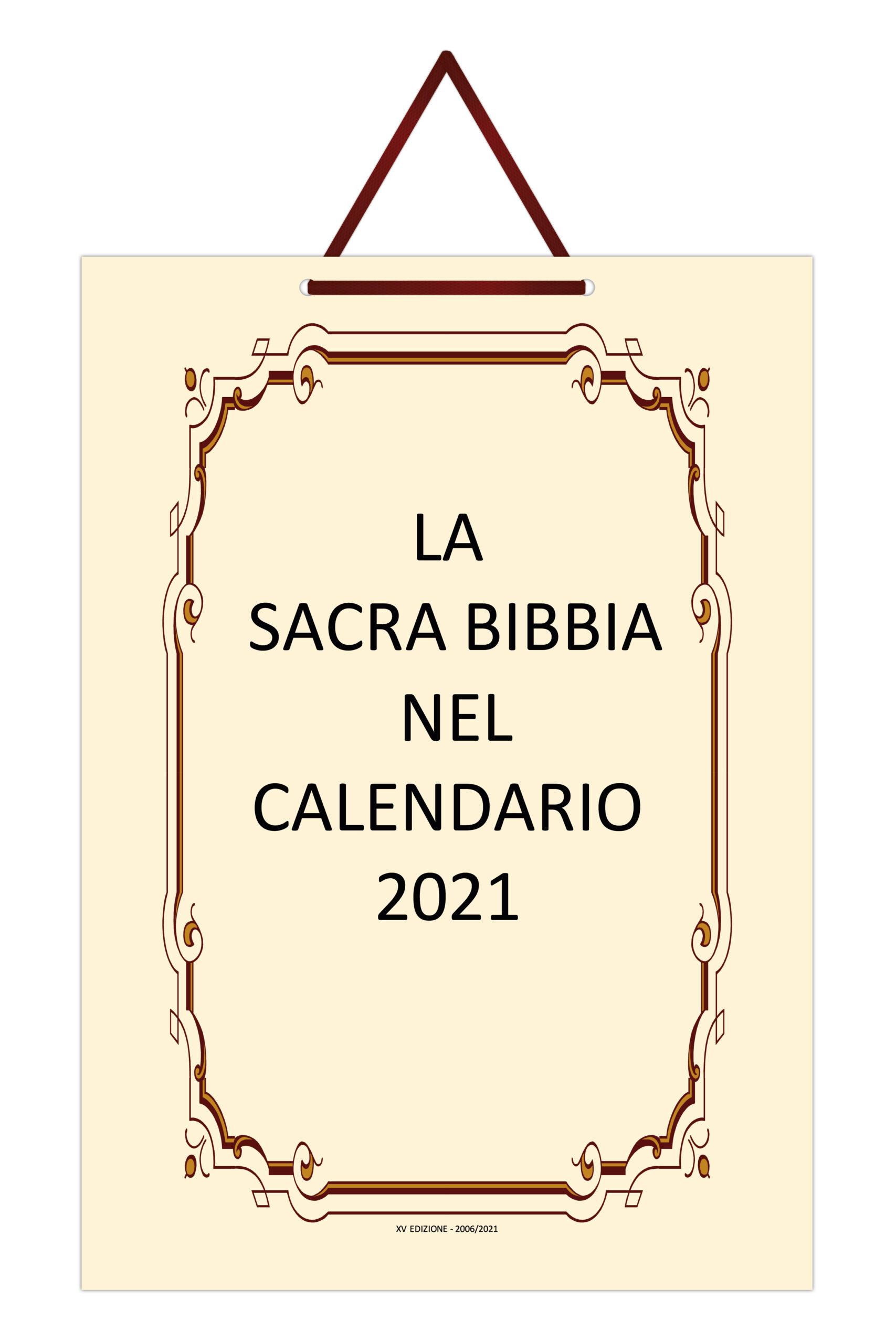 La Sacra Bibbia nel Calendario 2021